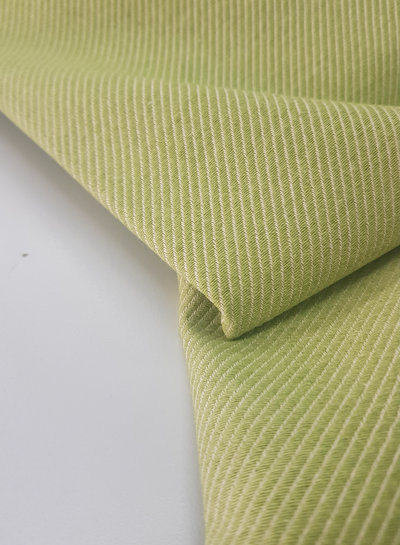 lime diagonals - very soft and strong canvas cotton