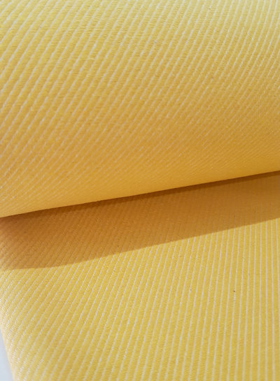 sunny yellow diagonals - very soft and strong canvas cotton