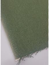 groen diagonaal - superzachte sterke deco katoen