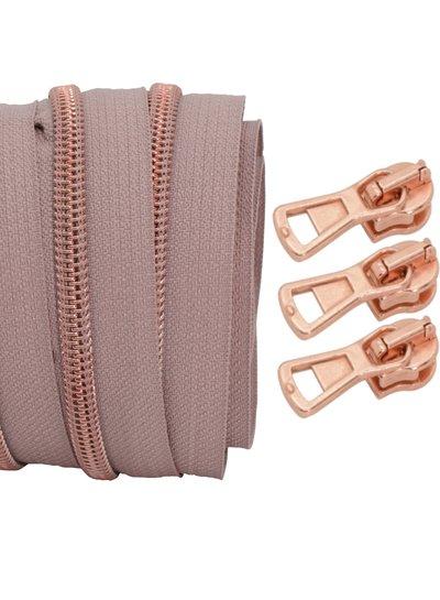 spiraalrits oudroze - rosé goud 100 cm inclusief 3 schuivers