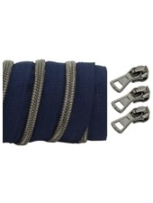 coil zipper dark blue - black nickel 100cm including 3 sliders