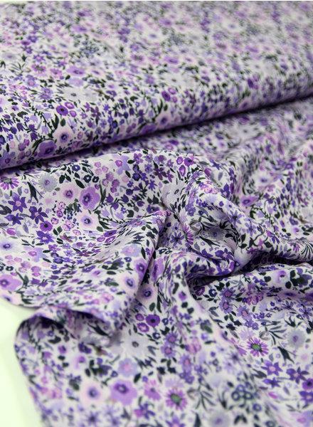 lavender kleine bloemetjes - viscose