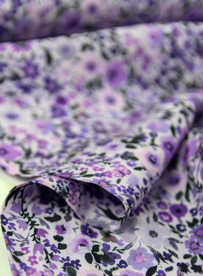 lavender little flowers - viscose