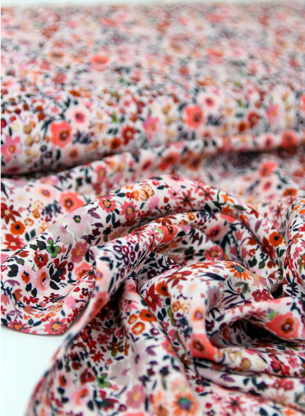 pink little flowers- viscose