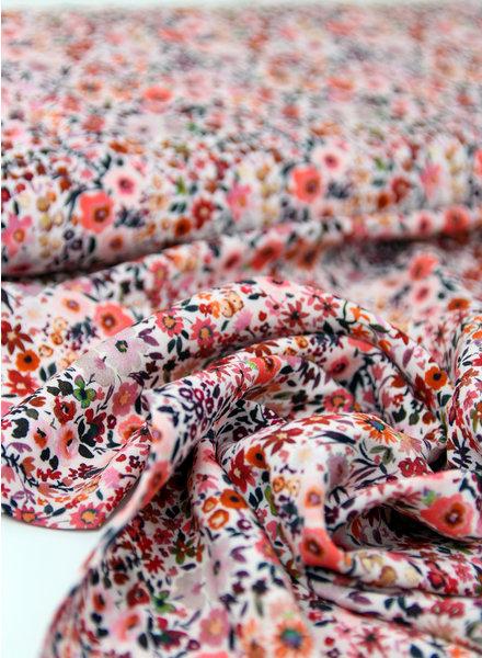 roze kleine bloemetjes - viscose