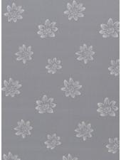 grey big flowers - viscose