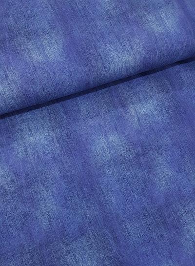 kobaltblauw - gemeleerd tricot - denimlook