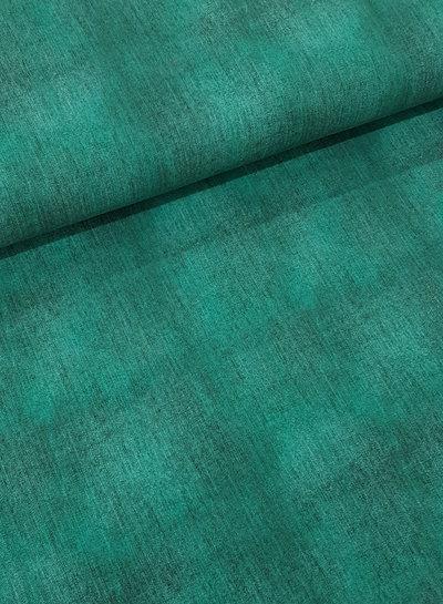 groen - gemeleerd tricot - denimlook