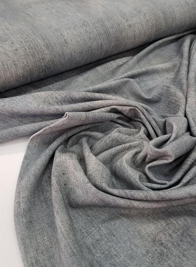 grijs - gemeleerd tricot - denimlook