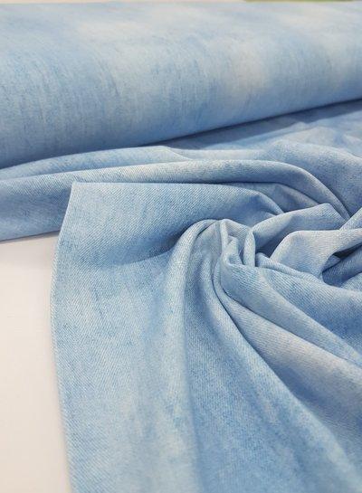lichtblauw - gemeleerd tricot - denimlook