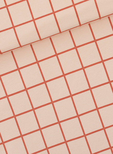 See You at Six Grid - French Terry - evening pink