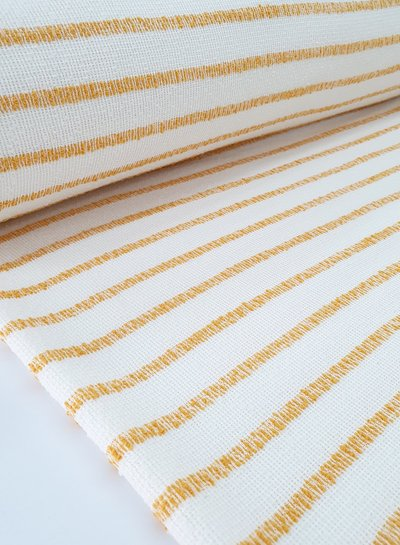 ocre woven stripes - textured knit