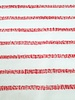 red woven stripes - textured knit