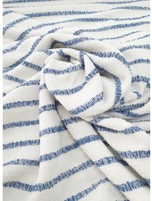 blue woven stripes - textured knit