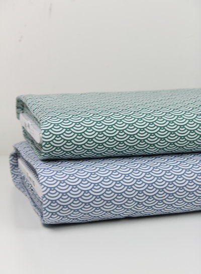 scallop blauw - tricot - oeko tex