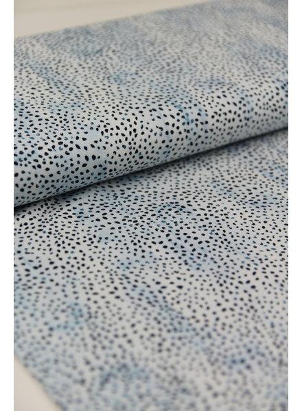 druppeltjes blauw - tricot - oeko tex