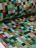 squares green - 12oz - gobelin deco stof