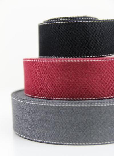 Topstitched tassenband 40 mm - verschillende kleuren