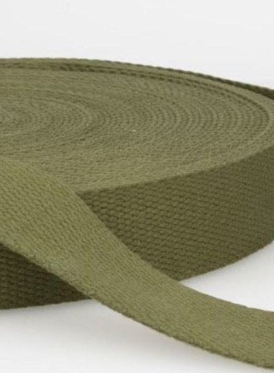 tassenband legergroen 30 mm