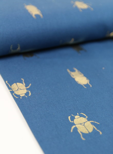 metallic bugs - deco fabric