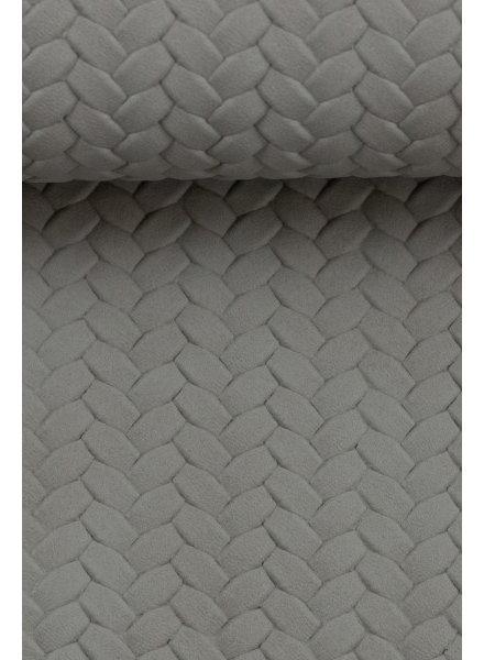 anthracite - braided - vegan  leather