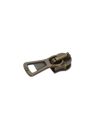 schuiver voor spiraalrits standaard - brons
