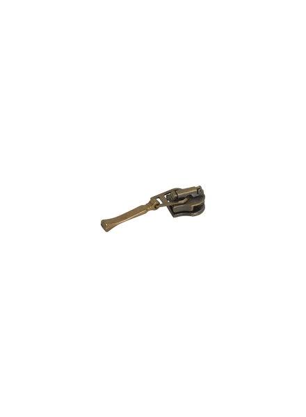 schuiver fijne balk voor spiraalrits - brons