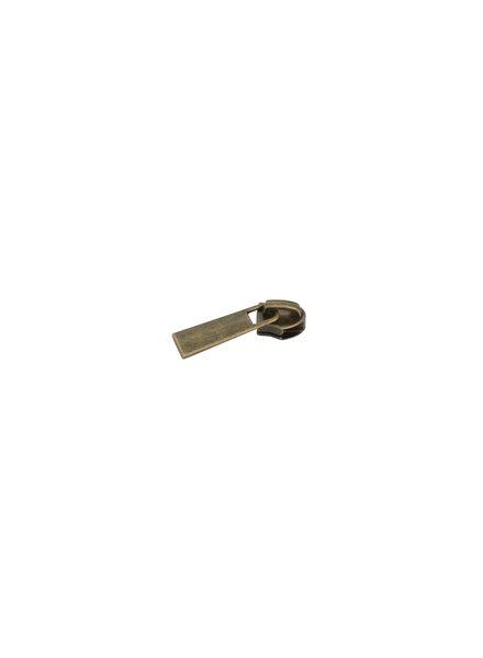 schuiver voor spiraalrits - classic - brons