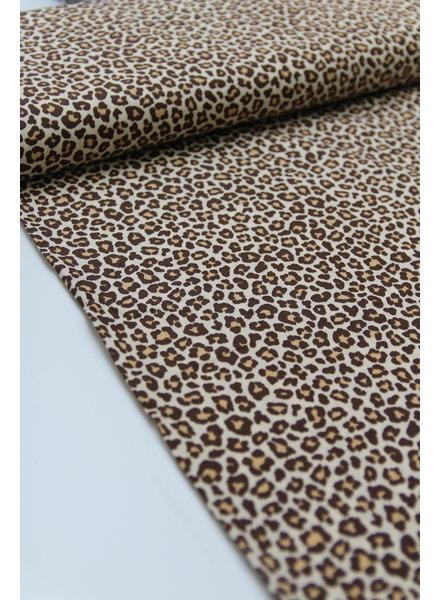 leopard brown cotton