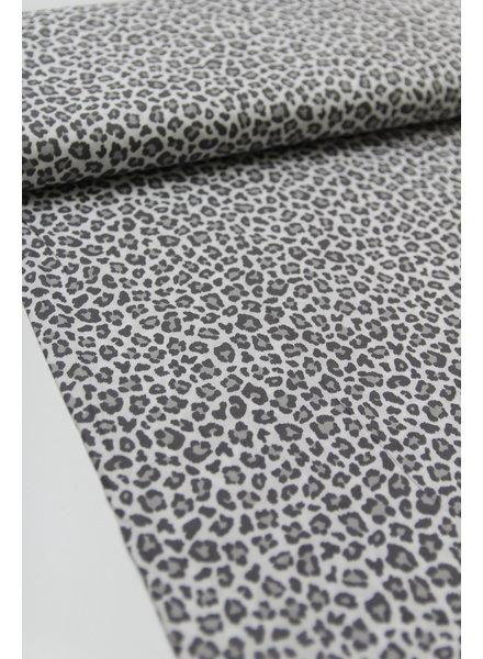 leopard grijs katoentje