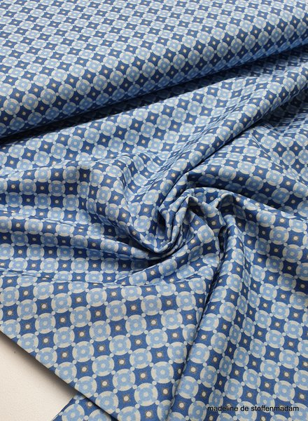 blauwe mozaïek - cotton