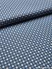jeansblauw met witte stipjes - katoen