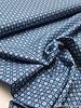 jeansblauw met witte stipjes - cotton
