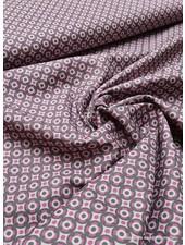 cirkeltjes roze en grijs - cotton