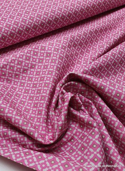 roze mozaïek - katoen