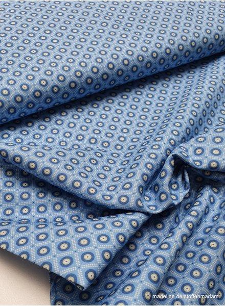 blauw bolletje in ruitje - cotton
