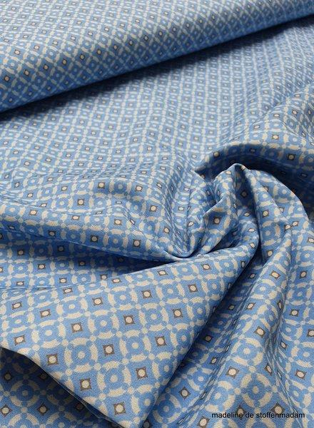lichtblauwe mozaïek - cotton