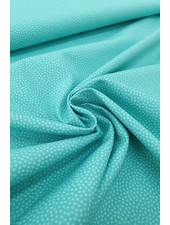 dots turquoise - cotton