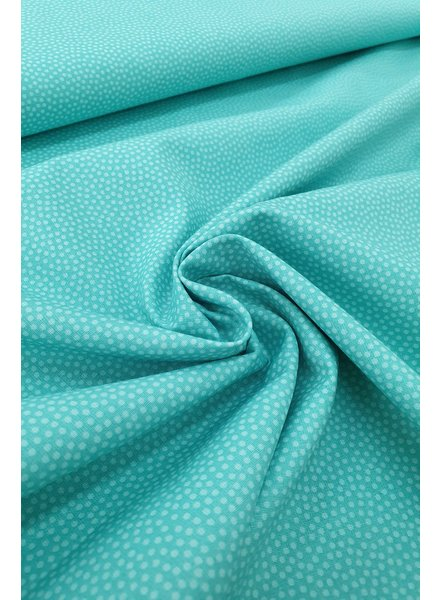 dots turquoise - cotton
