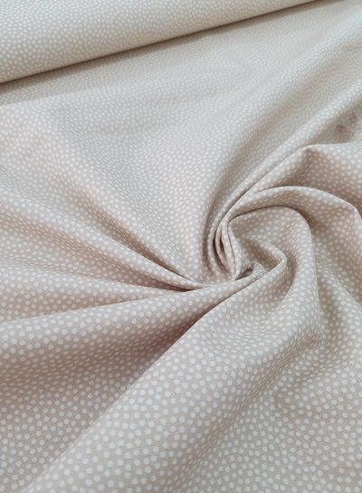 dots cream - cotton