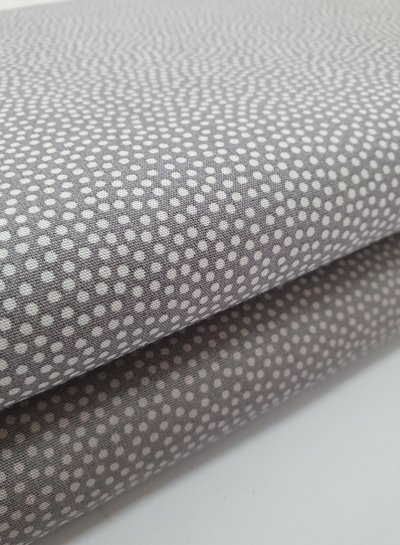 dots grey taupe - cotton