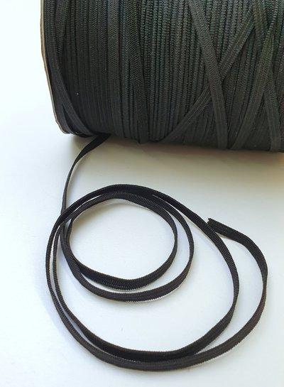 ZWARTE elastiek - 10 meter - 4 mm breed - kookvast