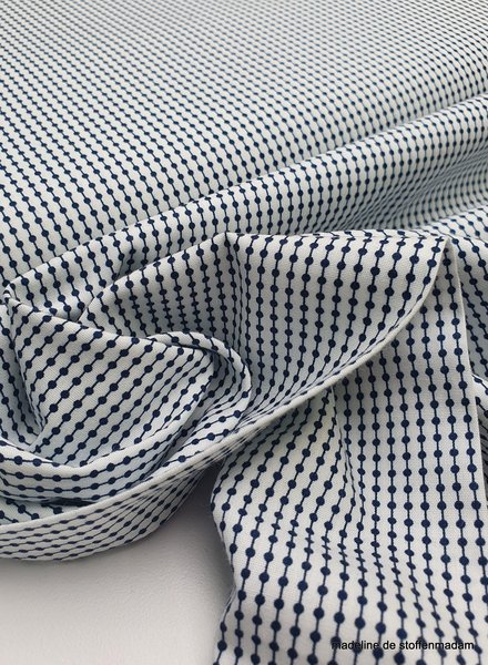 white and marine motif - soft and supple cotton - easy iron