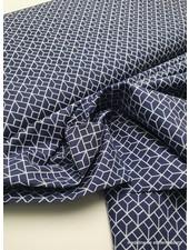 labyrinth - marineblauw - katoentje
