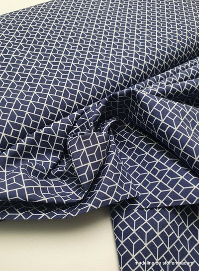 labyrinth - navyblue - cotton