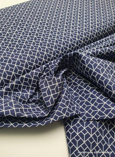labyrinth - navyblue - cotton