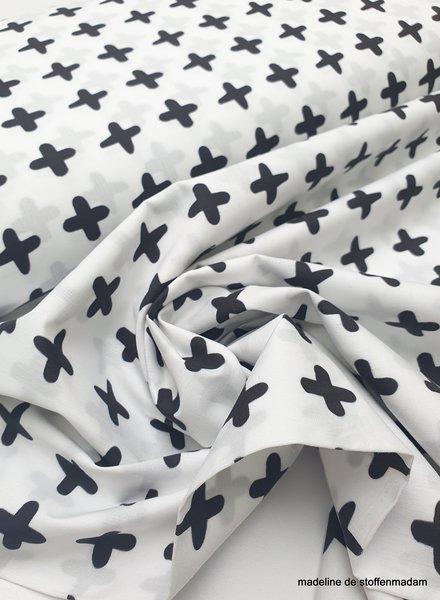 black and white crosses - cotton