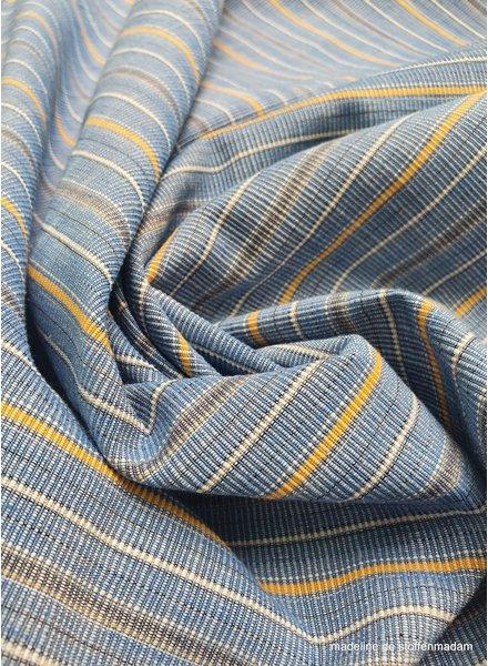 marton blue -  textured cotton polyester
