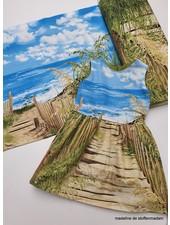 beach - cotton panel fabric