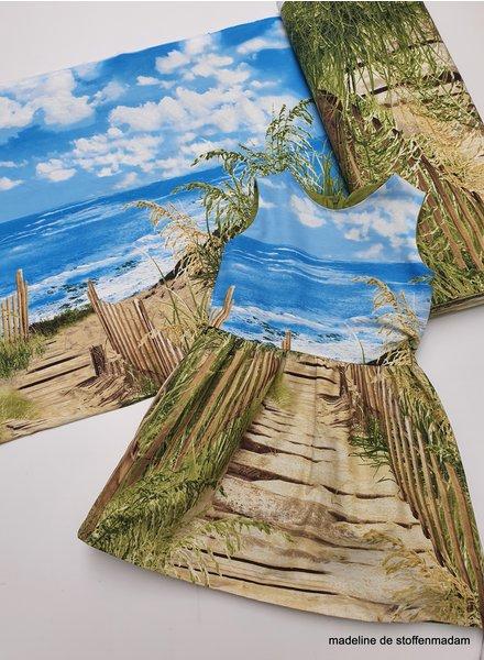 strand - katoen paneelstof